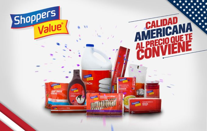 Banner marca Shoppers Value - Supermercados La Colonia